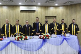 The department awarded a PhD degree in